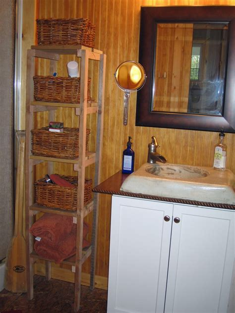 home made decor and inexpensive rustic cabin bathroom decor