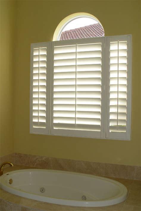 bathroom window shutters elite shutters in bathroom settings traditional window