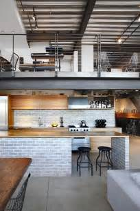 Kitchen Island Steel industrial loft in seattle functionally blending materials