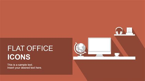 office layout template powerpoint flat office powerpoint icons slidemodel