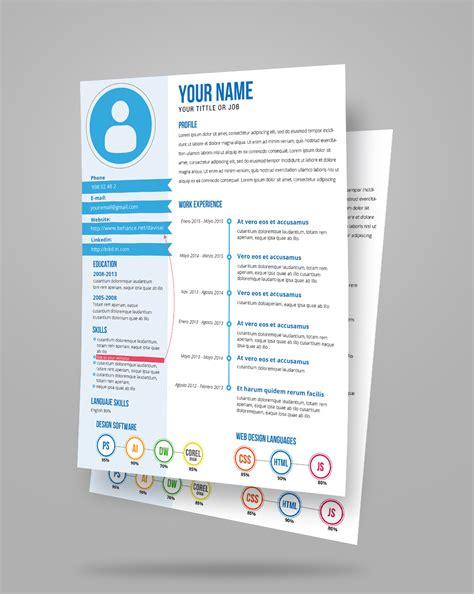 Creative Resume Template Zip by Free Fresh Creative Resume Cv Template Design Ai File