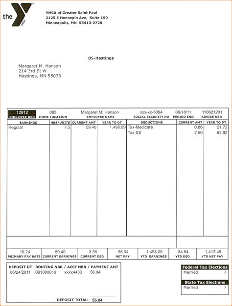 pay stub template pdf template for pay stubs fax templates for word sle