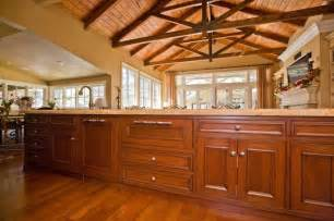 Fine custom kitchen cabinets and truss ceiling by bay area builder