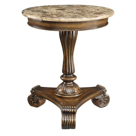Marble Top Accent Table | furniture dining room stunning round pedestal dining room
