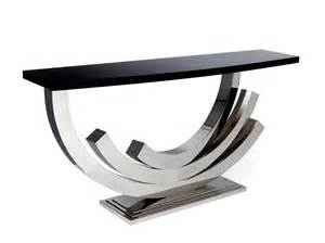 Designer Console Tables Tl Furniture Grand Contemporary Polished Nickel Console Tables