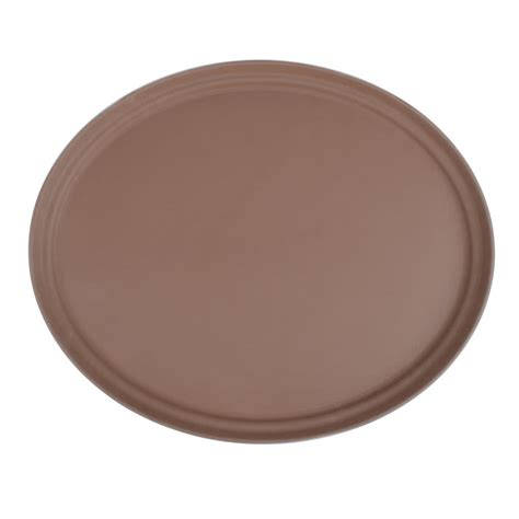Oval Tray 27 quot brown oval fiberglass non skid serving tray