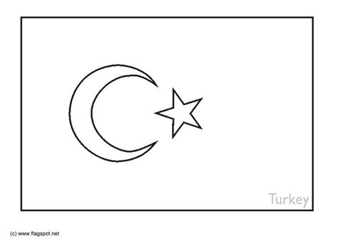 coloring page of turkey flag coloring page flag turkey img 6387