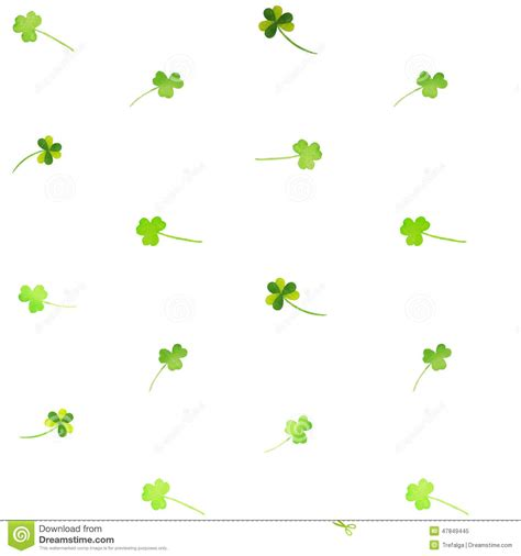 clover templates flowers floral watercolor clover pattern stock vector image