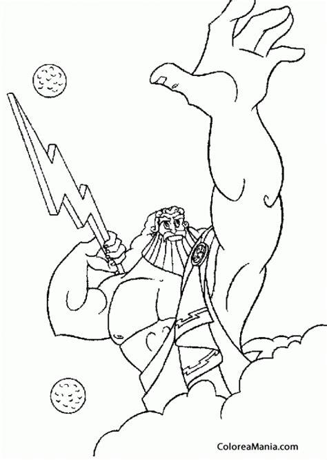 imagenes de zeus para dibujar faciles colorear zeus hijo de cronos y rea mitologa griega