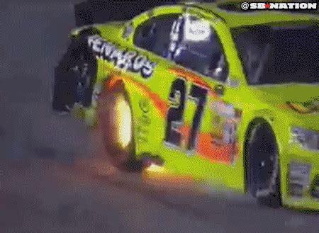 nascar homestead  paul menards car catches fire explodes sbnationcom