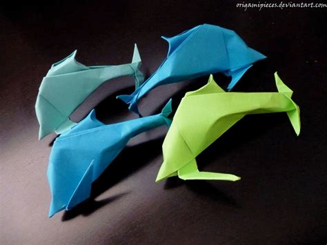 How To Make Origami Dolphin - origami dolphin by origamipieces