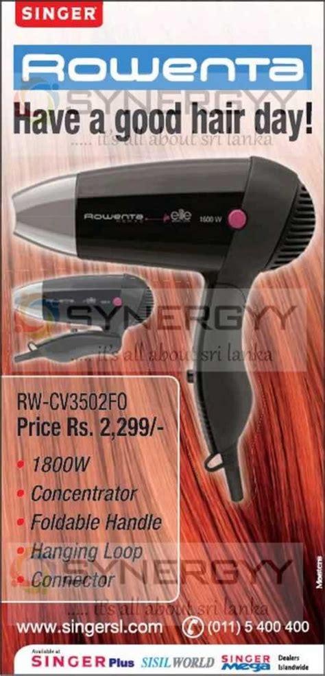 Hair Dryer Price In Sri Lanka singer rowenta hair dryer for rs 2 299 00 171 synergyy