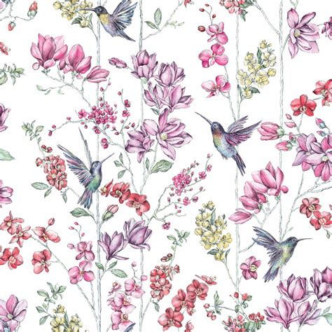 Shabby Floral by Shabby Chic Floral Wallpaper In Various Designs Wall Decor