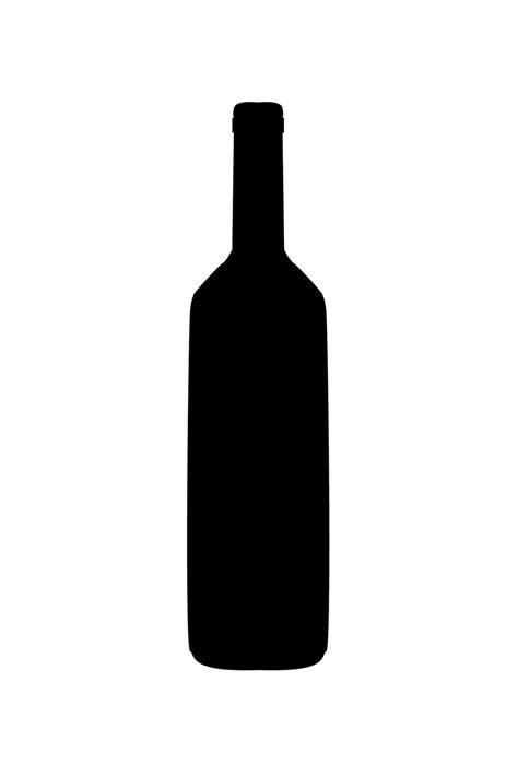 wine silhouette liquor clipart wine bottle outline pencil and in color