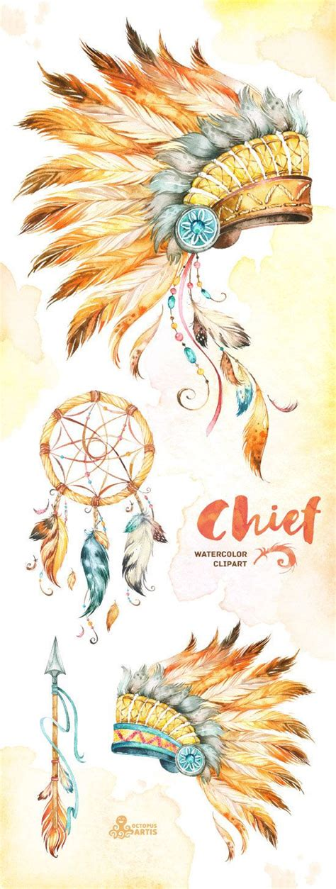 Motorhauben Aufkleber Indianer by Chief Indian Headdresses Dreamcatcher And Arrow