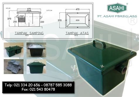 Jebakan Lemak Grease Trap Igt30 Grease Trap Penyaring Lemak Fibreglass