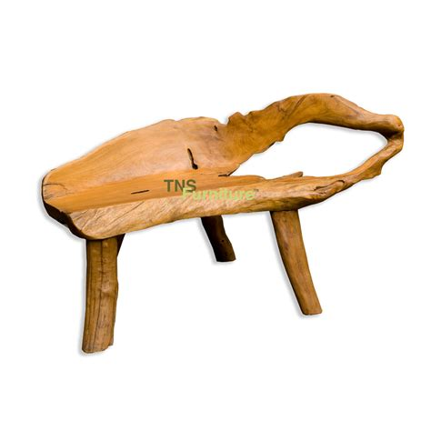 tns furniture teak root bench