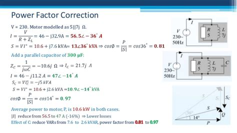 capacitor parallel power factor power factor power factor correction