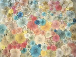 Paper pin wheel wedding photo background