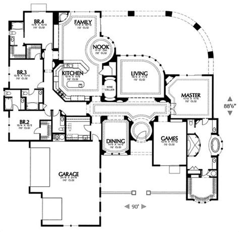 Mediterranean House Plan With 4 Bedrooms And 4 5 Baths Dfd House Plans