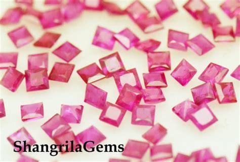 Ruby 14 1ct 2mm ruby princess cut square gemstones 1ct 14