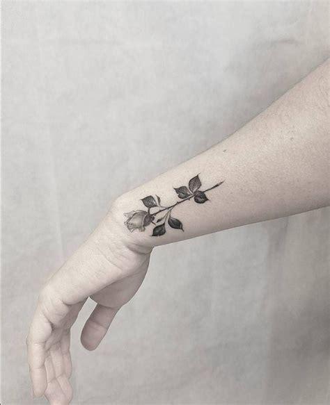 nature wrist tattoos line healed on the wrist nature