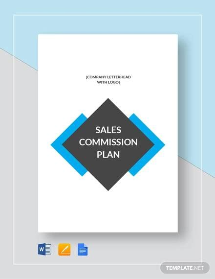 sample commission plan templates   ms word
