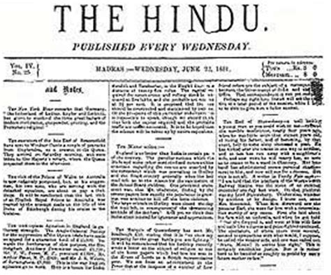 layout of the hindu newspaper what is the meaning significance of the hindu newspaper