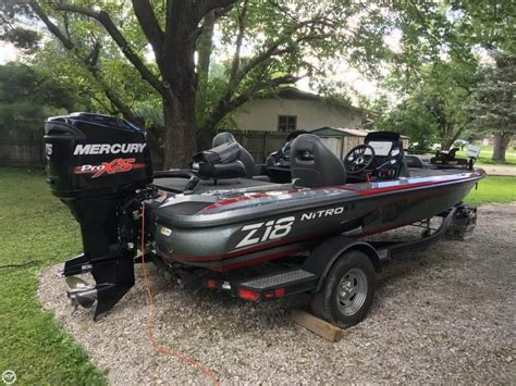 used nitro z18 bass boats for sale 2017 used nitro z18 bass boat for sale 36 700
