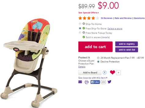 fisher price ez clean high chair only 9 00 shipped reg