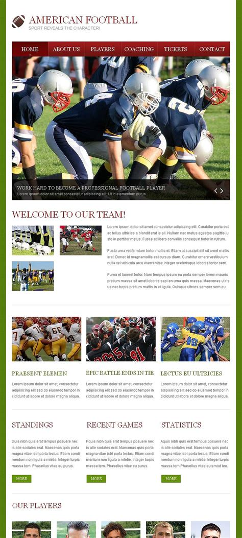 cms templates football html cms template 47057