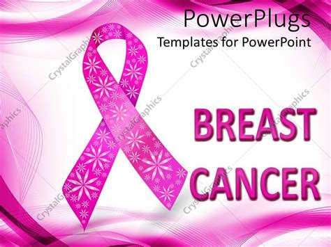 Powerpoint Template Pink Breast Cancer Awareness Ribbon Powerpoint Presentation On Breast Cancer Awareness