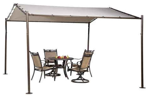 Portable Patio Awnings by Abba Patio Portable Outdoor Canopy Garden Gazebo 13 X11 5 Beige Canopies