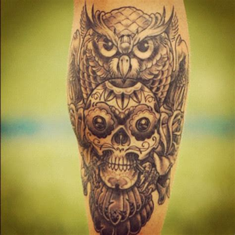 skull owl tattoo owl and skull designs