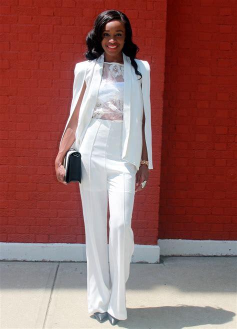 white pant suit white wide leg suit pant row
