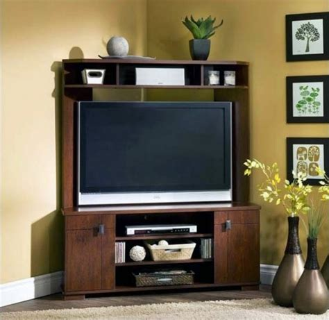Corner TV Wall Mount with Shelves Ashley Home Decor