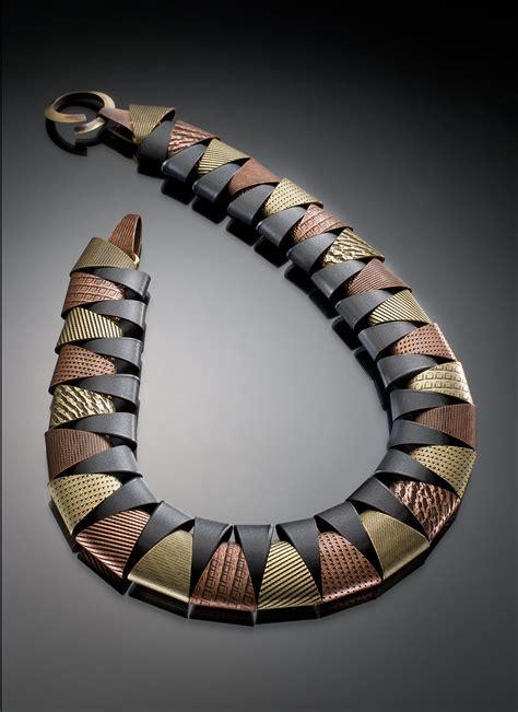 zap collar tri tone collar by erica zap metal necklace artful home
