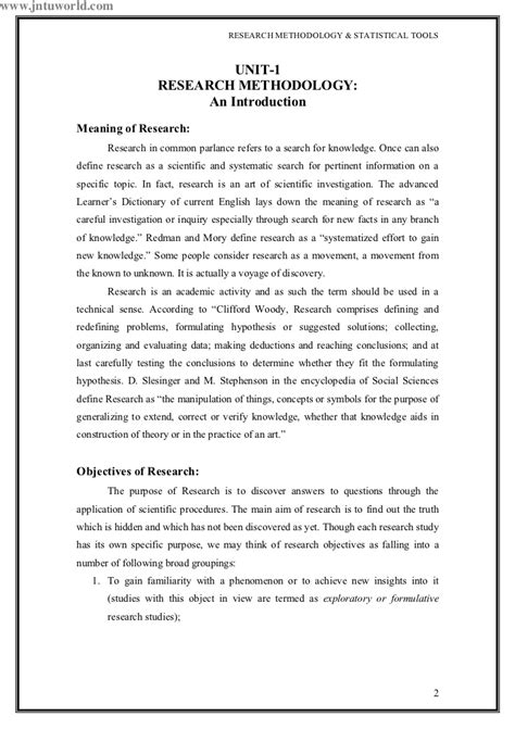introduction for a research paper exles an introduction to research methodology and report writing