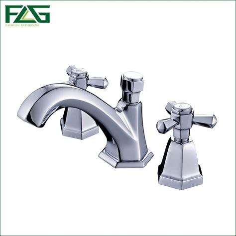 3 hole taps bathroom flg luxury deck mounted double handle bathroom taps square