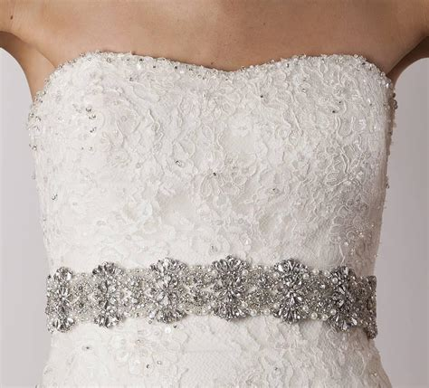discount 2015 cheap bridal belts with crystals bridal