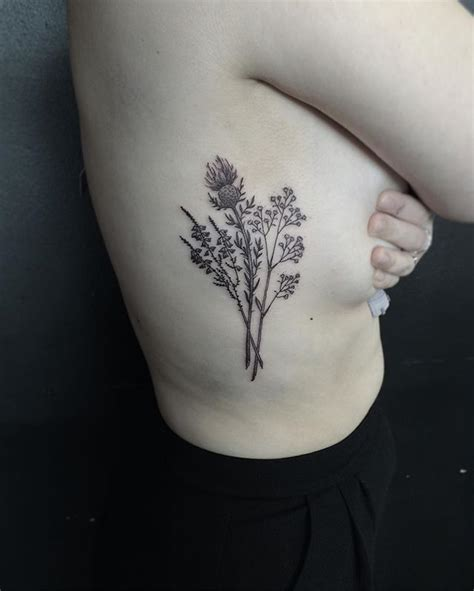 zoe tattoo designs thistle and baby s breath for zoe to celebrate