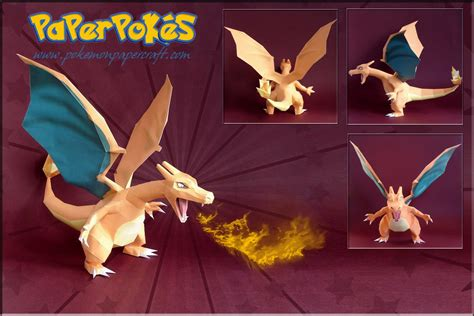 How To Make A Paper Charizard - papercraft model charizard pok 233 mon papercraft