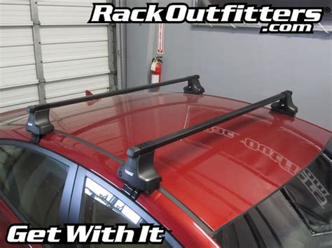 Car Rack Installation thule car roof rack for the 2011 2012 and 2013 hyundai