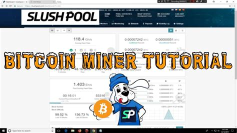 setup bitcoin pool bitcoin miner tutorial slushpool mining pool setup youtube