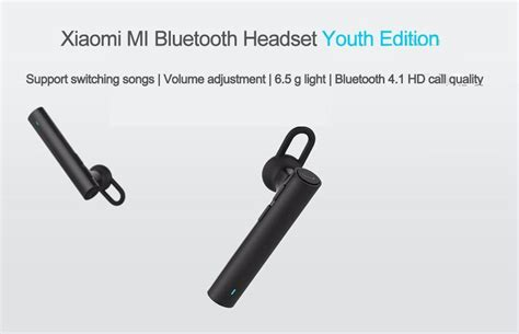 Handset Bluetooth Bluetooth Stereo Handset Xiaomi high quality cheap price blue led light stereo bluetooth