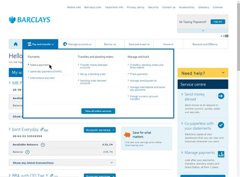 add new payees and make payments barclays