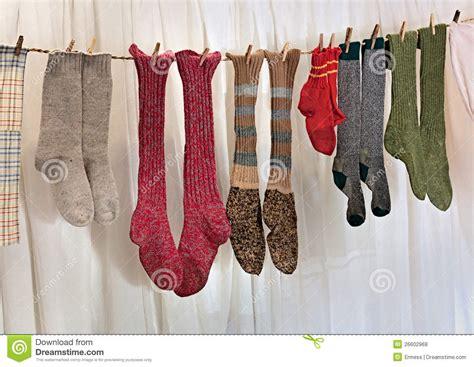 Handmade Woolen - handmade wool socks royalty free stock photos image