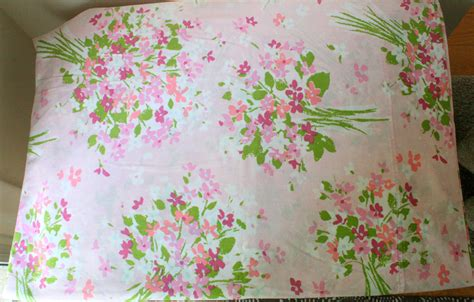sheet fabric vintage floral sheet or vintage fabric