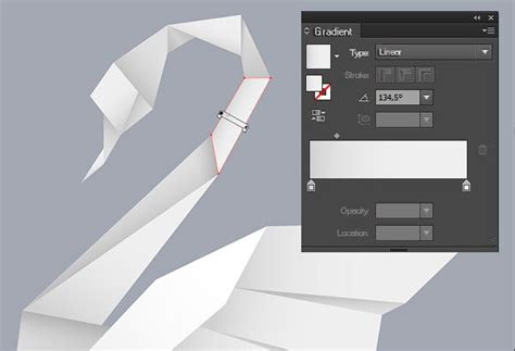 Origami Design Tool - creating an origami style vector swan in illustrator