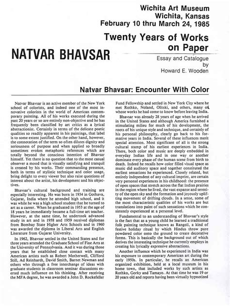 Color Essay by Bhavsar Natvar Selected Document Artasiamerica A Digital Archive For Asian Asian